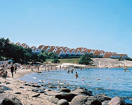 View of the beach alongside Capri resort.