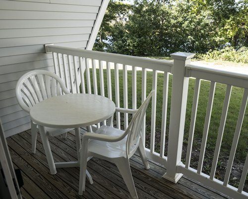 A view of patio furniture.
