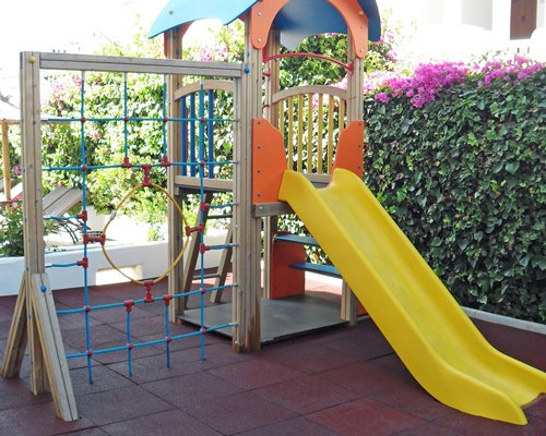 A playscape for children.
