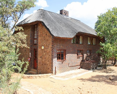 Exterior view of a unit of Mabalingwe Nature Reserve resort.
