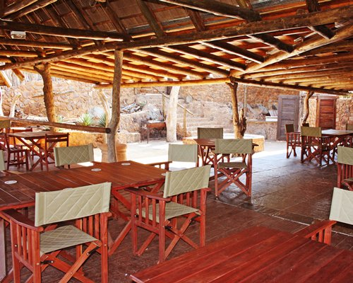 A fine dining area at the Mabalingwe Nature Reserve resort.