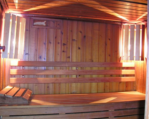 A large wooden sauna at the Four Seasons Vilamoura resort.
