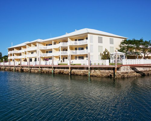 Exterior view of Ocean Reef Yacht Club and Resort from the waterfront.