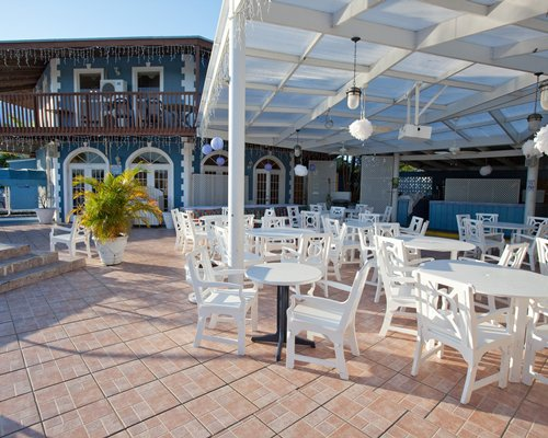 An outdoor fine dining area of the Ocean Reef Yacht Club and Resort.