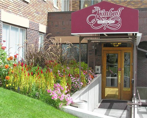 The entrance door of the Kimball resort.
