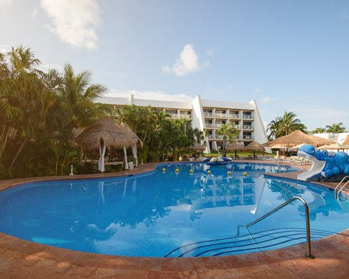 A woman enjoying the massage.