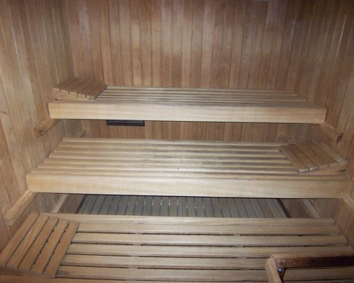 A sauna at the Residence Sport Hotel Astoria.