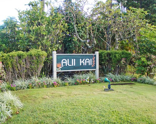 A signboard of the Alii Kai Resort.