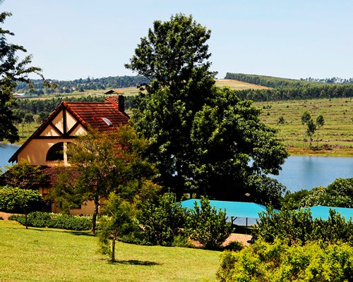 Scenic exterior view of Pine Lake Country Estate resort.