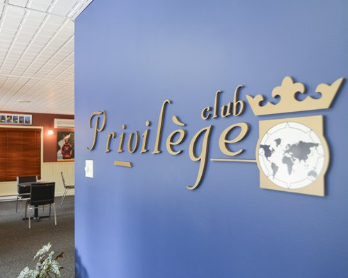 A signboard of the Privilege club at the Privilege Mont Tremblant Voliere.