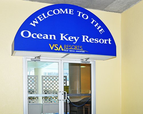 View of the entrance to the Ocean Key Resort.