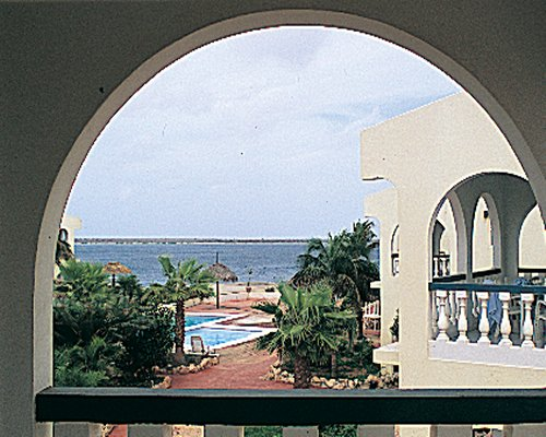 A balcony view of the ocean.