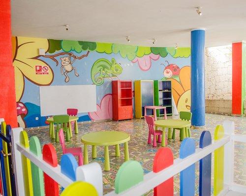 An indoor recreational area.