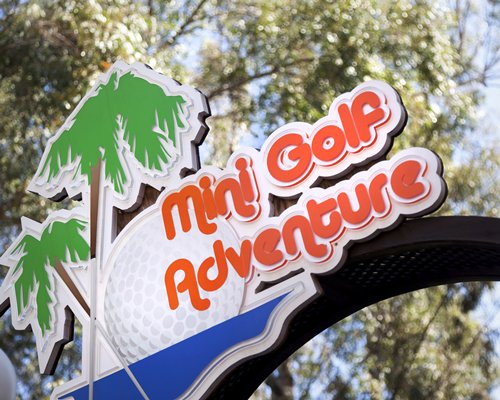 Signboard of Mini Golf Adventure at Crown Resorts at Club Marbella.