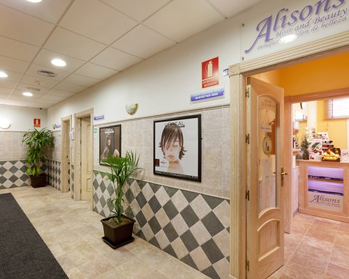 Entrance to a beauty salon at Crown Resorts at Club Marbella.