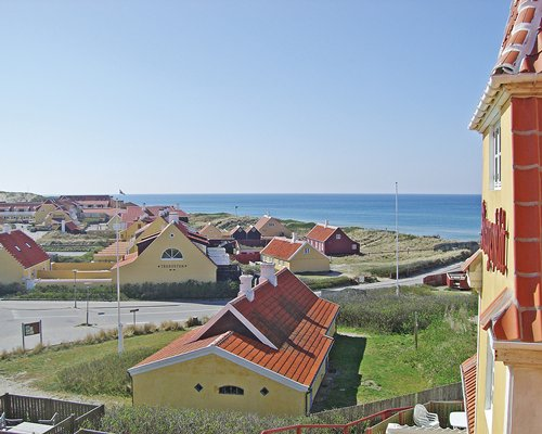 A balcony view of the Skagenklit resort property.