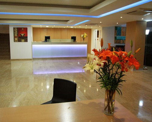 A well furnished reception area of Malama Beach Club resort.