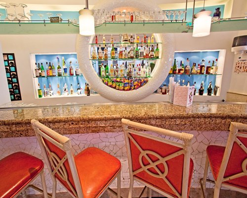 A convenient indoor bar.