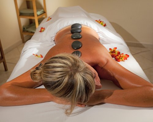 Women at the spa having a massage.