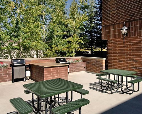 A Scenic picnic area with barbecue grill.