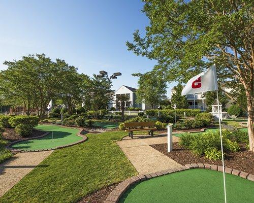 View of putt putt golf course.