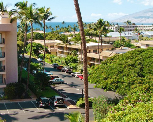 Scenic exterior view of Kihei Akahi with a parking lot.