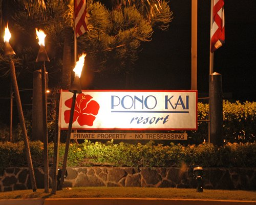 Signboard of Pono Kai resort.
