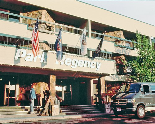 An exterior view of The Park Regency resort units.