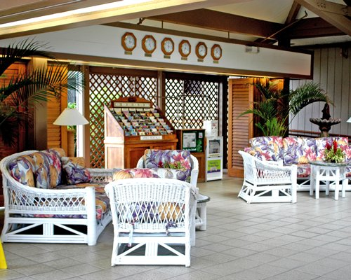 A well furnished lounge area at the Pono Kai Resort.