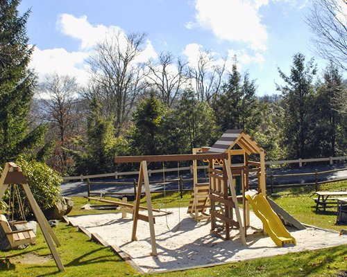 A scenic children's playscape.
