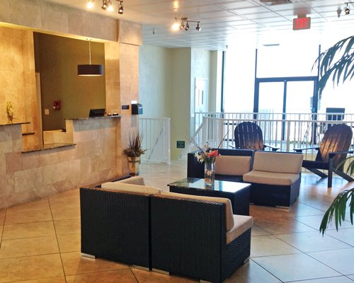 The reception area with lounge access.