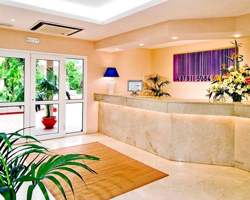 A reception area at Dunas Club resort.