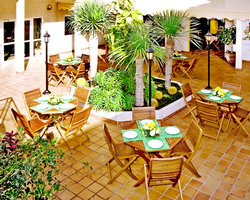 An outdoor restaurant at the Dunas Club.