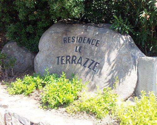 Signboard of Le Terrazze di Portorotondo resort.