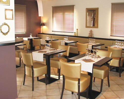 A well furnished restaurant area.