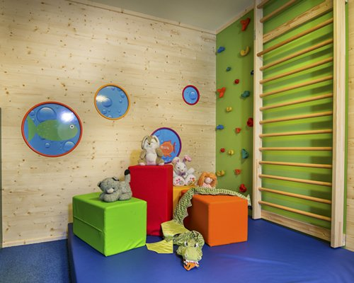 An indoor playscape area for kids.