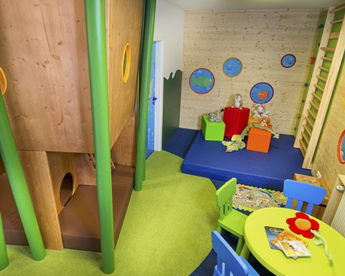 An indoor playscape for kids.