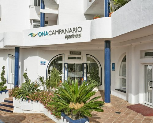An exterior view of the Ona Campanario resort main building.