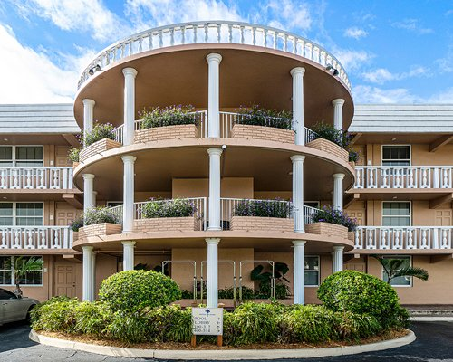 A street view of the Coconut Bay Resort units.