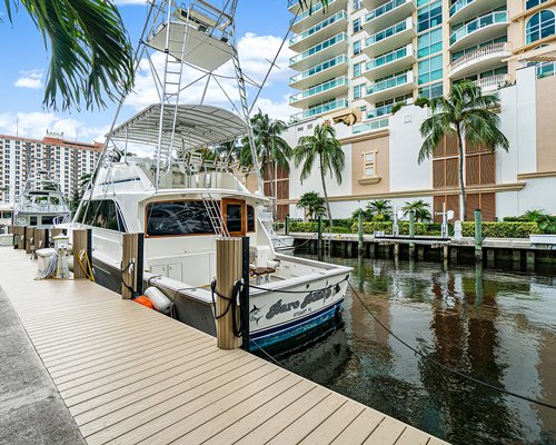 A sign board of the Coconut Bay Resort.