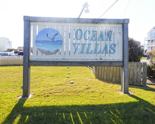 Signboard of Ocean Villas.