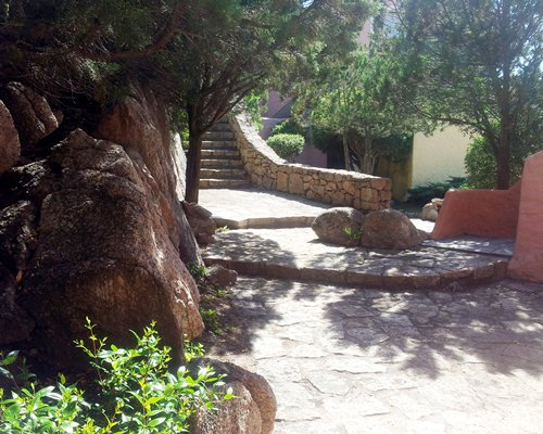 Scenic pathway and stairway to a condo at Residence Cormorani Bis.