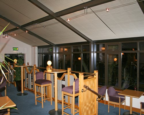 An indoor dining area at the resort.