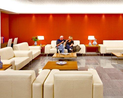 Lounge area at Clube Praia da Oura.