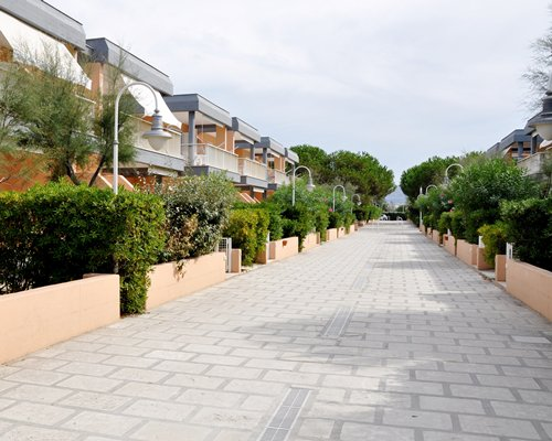 A pathway alongside the Blue Marine Residence.