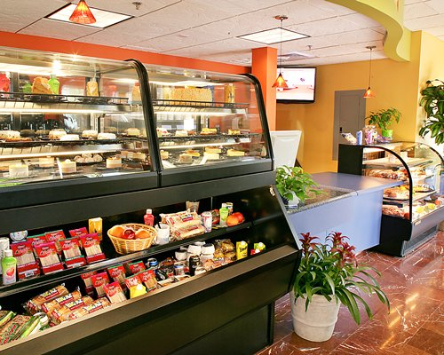 A well stocked cafeteria at the Cypress Pointe Resort.