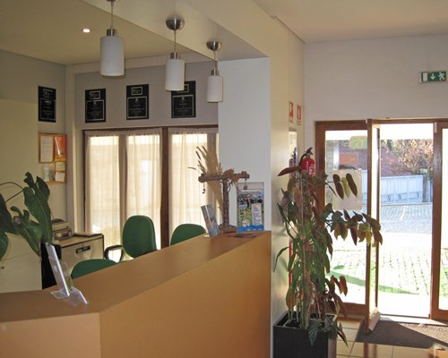 A well furnished reception area of the Geres Albufeira resort.