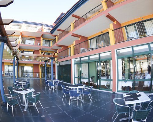 Restaurant with indoor balconies at Royal Orchid.