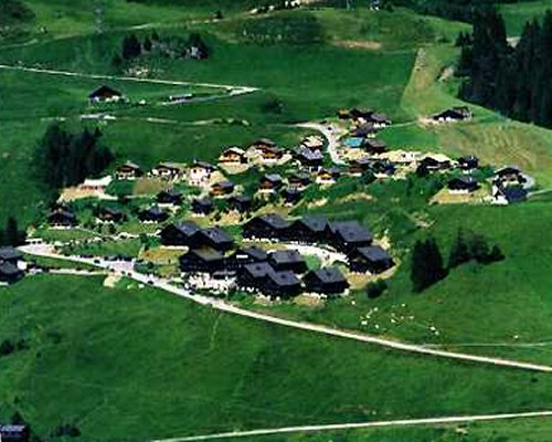 Bird eye view of the Portes du Soleil resort.