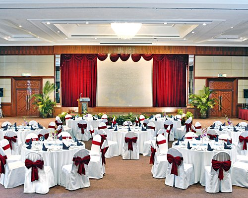 A banquet hall at the Berjaya Tioman Resort.